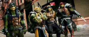 Left to right: Donatello, Michelangelo, Leonardo and Raphael in Teenage Mutant Ninja Turtles: Out of the Shadows from Paramount Pictures, Nickelodeon Movies and Platinum Dunes