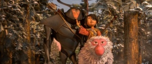 2700.0120.still.laika.0004 (l-r.) Beetle, Kubo, and Monkey set off on a promising path in animation studio LAIKA's epic action-adventure KUBO AND THE TWO STRINGS, a Focus Features release. Credit: Laika Studios/Focus Features