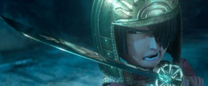 3200.0560.still.laika.0001 Kubo (voiced by Art Parkinson) proves he's the son of a samurai as he takes on the vengeful Moon King in animation studio LAIKA's epic action-adventure KUBO AND THE TWO STRINGS, a Focus Features release. Credit: Laika Studios/Focus Features